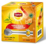 "Чай чорний ""Lipton"" Tropical Fruit. + ложка"